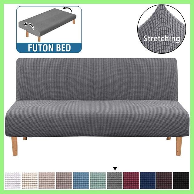 Housse de canapé sans bras trois personnes amovible et lavable couleur unie ananas maille Antifouling housse de canapé-lit