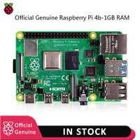 Raspberry pi 4 modèle kit-1GB RAM BCM2711 Quad core Cortex-A72 bras v8 1.5GHz avec chargeur d'alimentation ue/US type-c + dissipateur thermique Pi 4