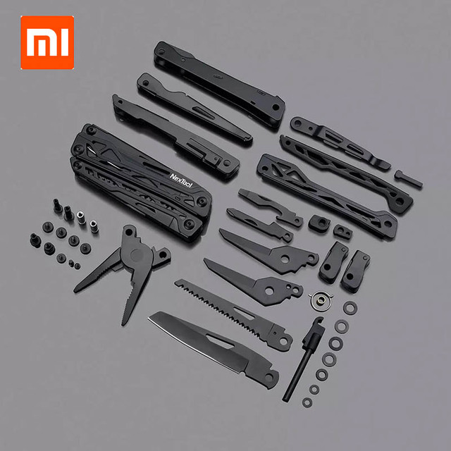 Xiaomi Mijia NEXTOOL 10 In1 Tools Multifunctional Tools Blade Folding Pliers Camping Hiking Cycling Portable Scissors Opener