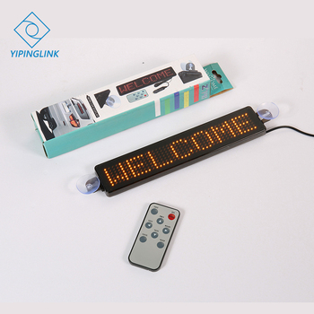 12V LED Car Sign Remote Control Uber Lyft Motorcycle English Display Board Multi-functional  Scrolling Programmable DIY Message