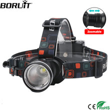 TOP quality 1800 Lumens CREE XM-L T6 LED Blue Headlamp AA Battery Adjustable focus Free shipping