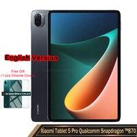 Versione inglese 2021 nuovo Mi Tablet 5 Pro Mi Pad 11 pollici 2.5K LCD Snapdragon 870 6G/8G RAM 128G/256G ROM 8600mAh studio ufficio