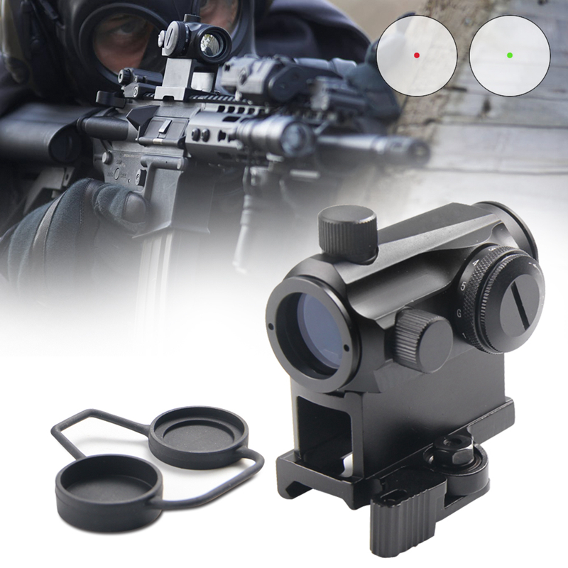 Mini Tactical Micro Reflex Red Dot Scope Sight with QD Quick Riser Mount 20mm