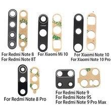 Lentille en verre de caméra arrière lentille en verre de caméra avec remplacement de colle pour Xiaomi Redmi Note 8 Pro Note 8 9 9S 10 Lite 9A Mi 10T