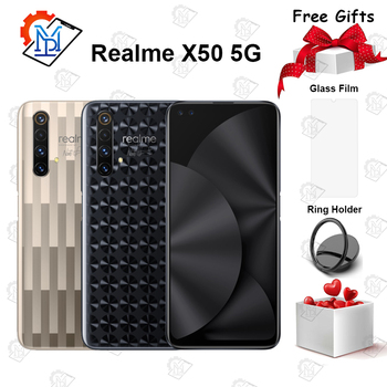 "Realme X50 5G Master Edition Mobile Phone 6.57"" 12G+256G Snapdragon 765G Android10 Camera 64MP Four Shots 4200mAh NFC Smartphone"