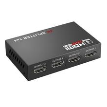 Repeater HDMI 1X4 4-Out Amplifier Splitter Eu-Plug 4-Port-Hub 3D in Full-Hd 1080P 4K