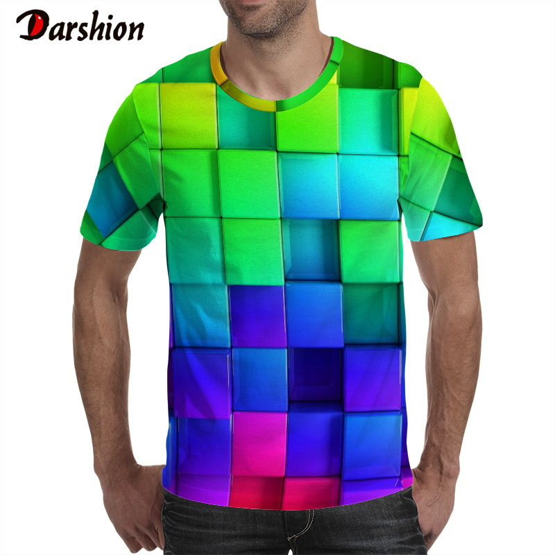 2019 New Men 's T- Shirt Casual Short Sleeve O-neck Fashion Funny Printed 3D T Shirts Male High Quality Brand T-shirt Cool Tees