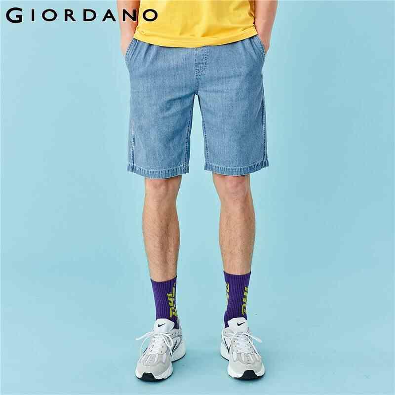 ג 'ורדנו גברים מכנסיים אלסטיים החגורה דק קצר ג' ינס גברים רב כיס Soild מקרית Pantalones Cortos Hombre 01100342