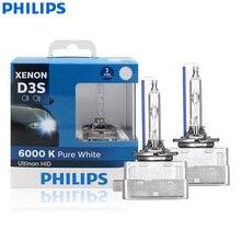 فيليبس Ultinon HID D3S 42403WXX2 35 واط 6000 كيلو ضوء أبيض رائع زينون HID مصباح أمامي للسيارة لمبات السيارات مصابيح الموضة (التوأم حزمة)