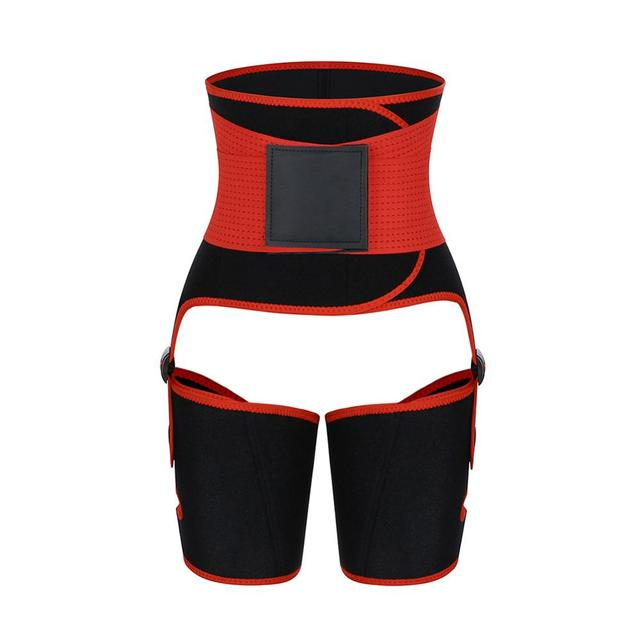 New Gym Fitness Belt Women Plus Size Leg And Waist Trainer Belt High Waist Bodybuilding abdomen Sweat Waist Trimmer Slim Shaper 2