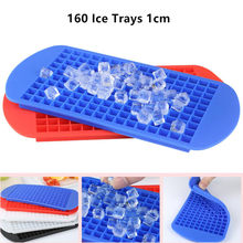 Creative DIY Food Grade 160 Cavity Silicone Bar Ice Cube Tray Mini Ice Cubes Small Square Mold Ice Maker Ice Cream Tools