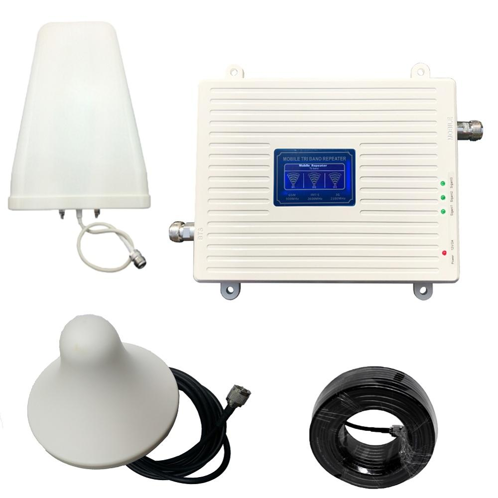 2G 3G 4G Signal Booster 900 2100 2600 Mhz  Mobile Phone Signal Repeater Cell Phone Cellular Amplifier Set