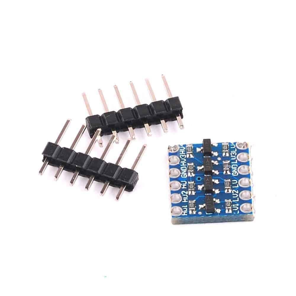 10 шт., 4-канальный преобразователь логического уровня IIC I2C, двунаправленный модуль от 5 В до 3,3 В для Arduino