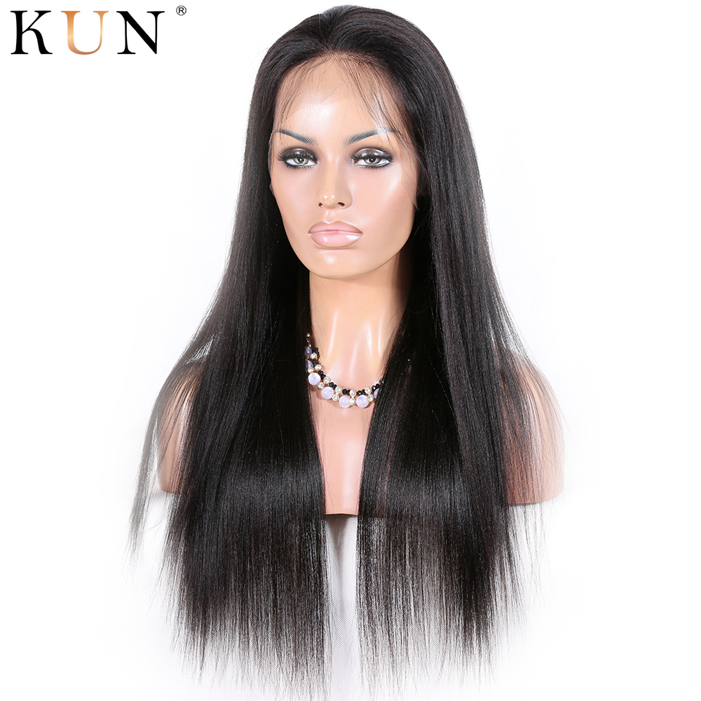 Straight Lace Part Front Wig Silk Base Lace Part Wig 150% Brazilian Glueless Human Hair Wigs Remy Front Lace Wig Pre Plucked