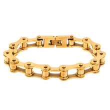 Women Punk Simple style Chain  Bracelet 316 Stainless Steel Golden Bicycle Woman Jewelry wholesale gift