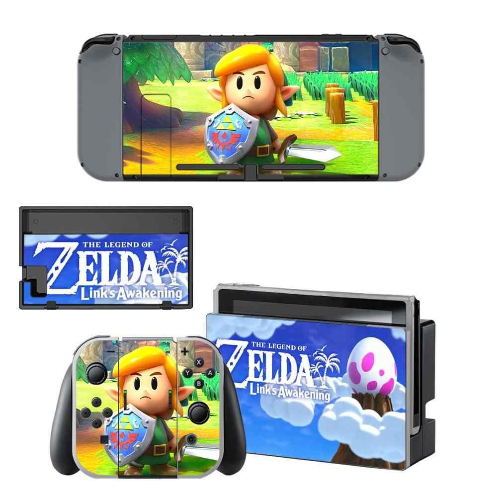 The Legend Of Zelda Link S Awakening Skin Sticker Vinyl For Nintendo Switch Sticker Skin Ns Console And Joy Con Controllers