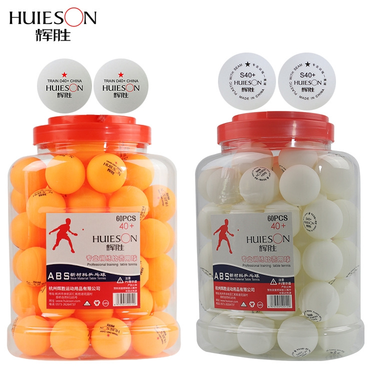 Huieson Table Tennis Balls  40+mm New ABS Plastic Ball For Ping Pong Training 60pcs/pack 60pcs/pack