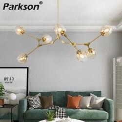 Nowoczesny szklany żyrandol dla Pubilc Loft AC 85 265V Max 60 W/podgrzewane jasny szary bursztynowy klosz szklany lampa sufitowa w Żyrandole od Lampy i oświetlenie na