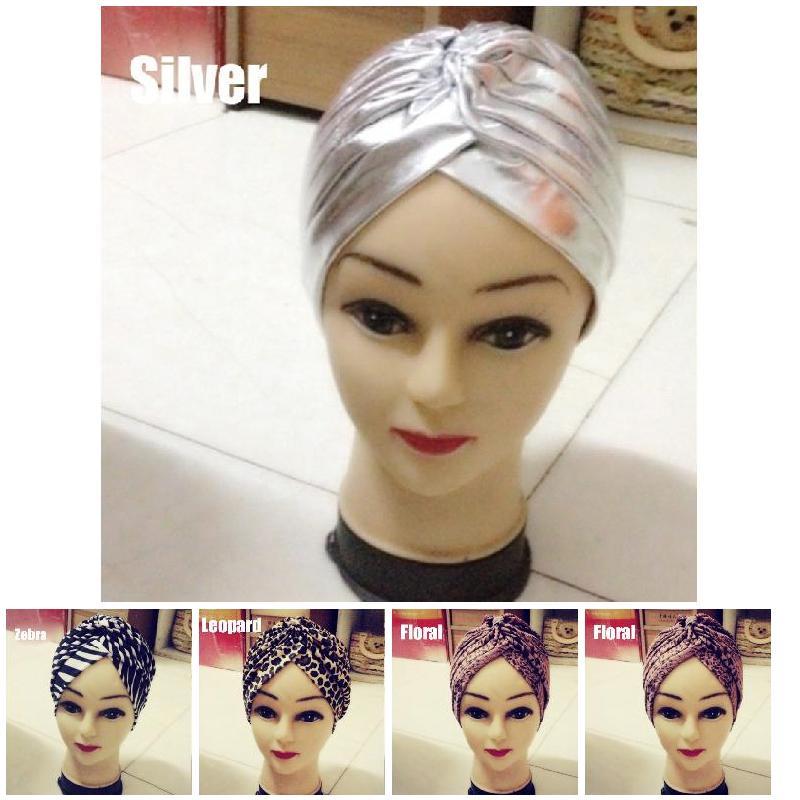Fashion Leopard Gold Turban Chemo Hair Head Wrap Yoga Cap Bath Cap New J9