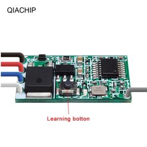 Image 4 - Qiachip 433 mhz sem fio interruptor de controle remoto longo alcance mini receptor 3.6 v 12 v 24 v e 433 mhz transmissor led controle remoto