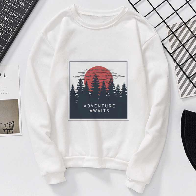 Cosmic Belief Harajuku Autumn And Winter Women's New Hoodies Ins Fashion Cartoon Printed Letter Short-sleeved Casual Sweatshirt