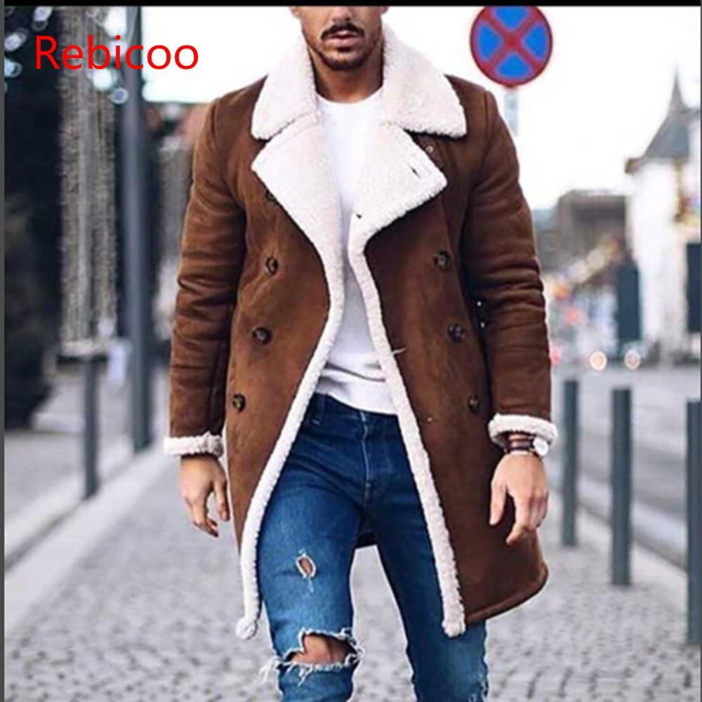 Men's Wool Warm Winter Trench Long Outwear Button Smart Overcoat Coats Waterproof Windproof Winter Jacket