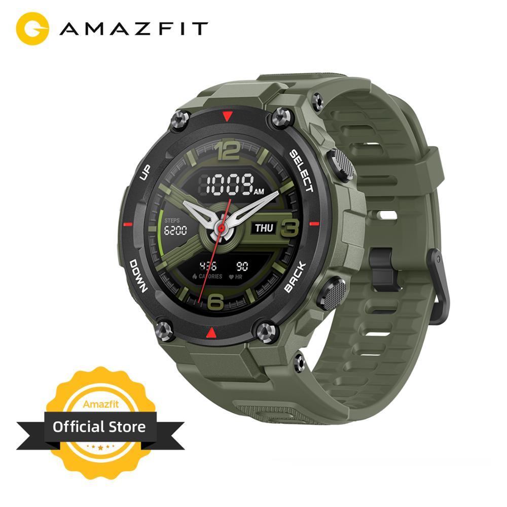 Новинка 2020 CES Amazfit T rex T rex Smartwatch 5ATM 14 спортивных режимов Смарт часы GPS/GLONASS MIL STD для iOS Android|Смарт-часы|   | АлиЭкспресс