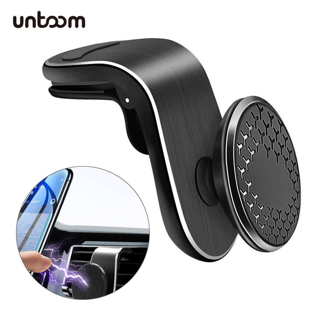 Universal Magnetic Car Phone Holder 360 Degree Rotation Car Air Vent Mount In Car Aluminum Alloy Magnet Cell Phone Holder Stand