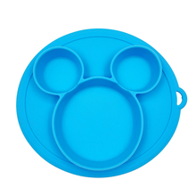 Plate for Kids with Silicone Baby Bowl Suction BPA Free Feeding Baby Tableware Children