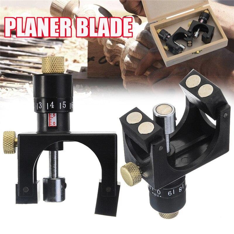 2Pcs /set Wood Planer Jointer Knife Setting Jig Planer Blade Woodworking Cutter Aligner Plastic With Magnet Material