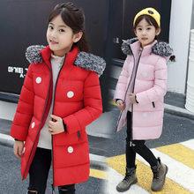Vintage Kids Girl Polka Dot Long Sleeve Casual Coat Teens Winter Jacket Girls Hooded For 4-13
