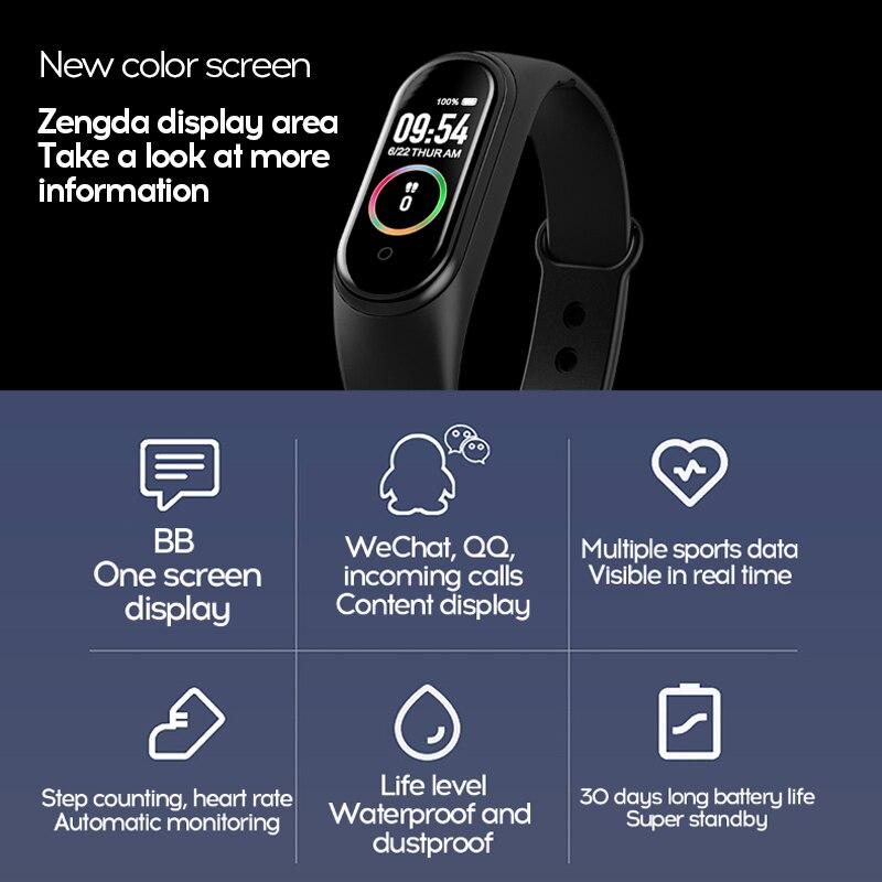 New M4 Smart Band Fitness Tracker Smart Watch Sport Smart Bracelet Heart Rate Blood Pressure Smartband New M4 Smart Band Fitness Tracker Smart Watch Sport Smart Bracelet Heart Rate Blood Pressure Smartband Monitor Health Wristband