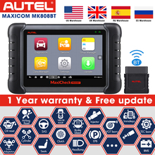 2021 Newest Autel MaxiCOM MK808BT Car Diagnostic Scan Tool, All Systems Diagnosis & 25+ Services, ABS Bleed, Oil Reset, EPB, SAS