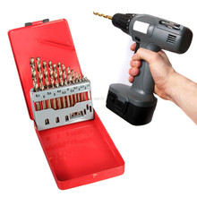 13 Pcs Metric M35 HSS Multipurpose Twist Drill Bit Set with Metal Index Case Assorted for Drilling and Polishing Wood