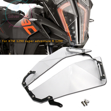 FOR motorcycle KTM 1290 super adventure R S Transparent Headlight Guard Protector
