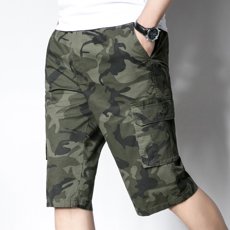 HUOYINGHUA IX7 Tactical Shorts /£22.99 Pants for Camping Fishing Outdoor Activity Mens Hiking Shorts Waterproof Quick Dry Cargo Shorts-Five-Point