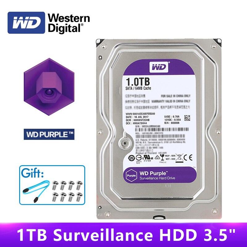 """Originele WD Paars Surveillance HDD 1 TB 3.5 """"5400 RPM SATA 6 Gb/s 64MB Cache Interne Harde Schijf disk 1 TB HDD Voor CCTV DVR NVR-in Interne Harde Schijven van Computer & Kantoor op AliExpress - 11.11_Dubbel 11Vrijgezellendag 1"""
