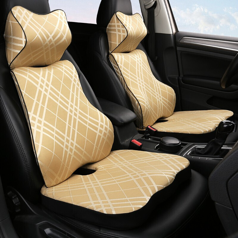 Car memory cotton headrest neck pillow waist pillow  Car  For Infiniti Q50 Q50L 2013 2014 2015 2016 2017 QX50 2015 2016 2017|Neck Pillow| |  - title=