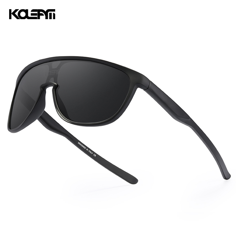 KDEAM New Exclusive One Piece Men's Sunglasses Polarized TR90 Material Mirror Sun Glasses Men Sports CE Oculos De Sol