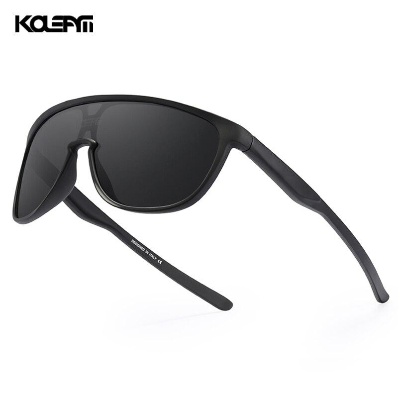 KDEAM New Exclusive One Piece Men's Sunglasses Polarized TR90 Material Mirror Sun Glasses Men Sports CE Oculos De Sol