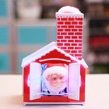 Рождество Санта Клаус скалолазание дымоход Кукла электрическая игрушка с музыкой Дети Рождественские подарки Новогодние украшения для дома