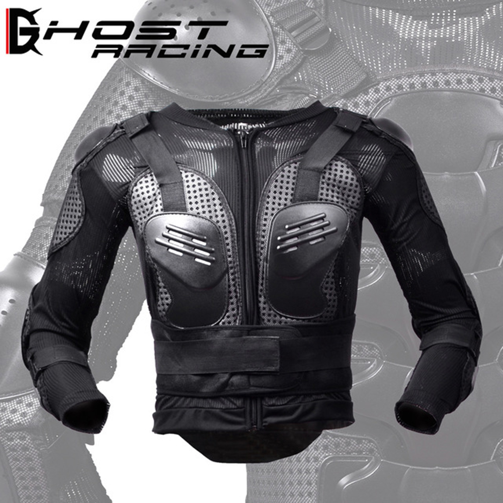 GHOST RACING Motorcycle Jacket Men Full Body Armor Motocross Racing Moto Jacket Riding Motorbike Chest Back Shoulder Protection