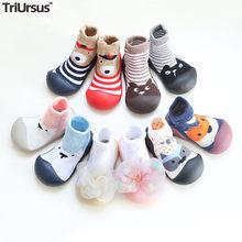 Attipas bebê meninos meninas sapatos recém-nascidos meninos meias chão dos desenhos animados infantil bebê pé meias primeiros caminhantes