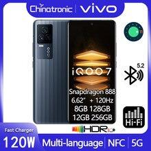 Em estoque iqoo 7 5g telefone móvel snapdragon 888 octa núcleo 6.62