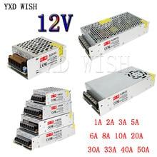 Beleuchtung Transformator 220 V 12 V 1A 2A 3A 5A 8,5 A 10A 12,5 EINE 15A 16,5 EINE 20A 25A 30A 33A 40A 50A Transformatoren Für Led-streifen CCTV