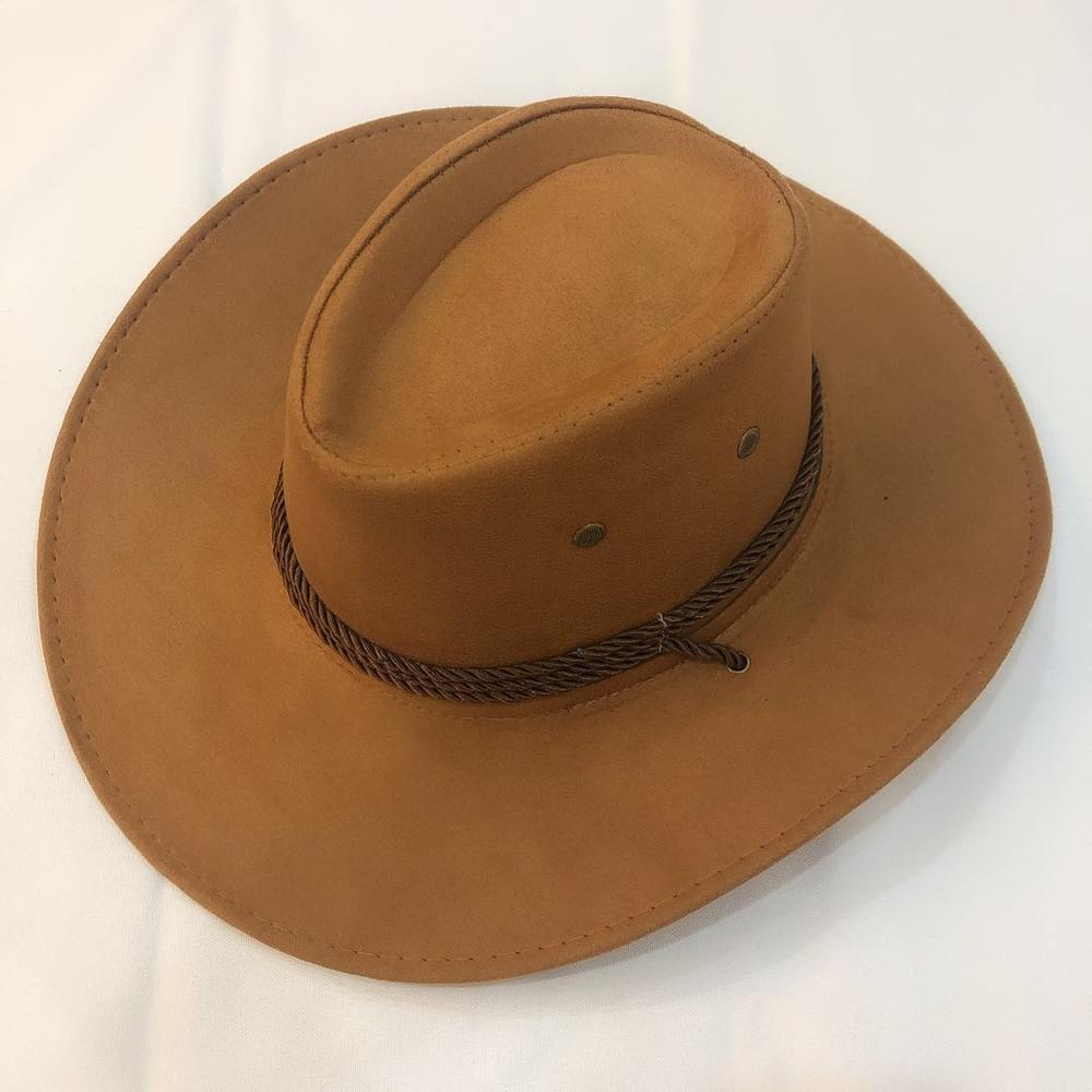 Cowboy Hat Suede Spring Summer Man Hats Shade Horse Riding Outdoor Solid Color High Quality New Fashion