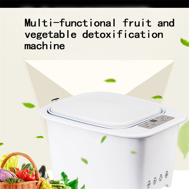 Household Mutifunction Ozone Fruit Vegetable Detoxification Machine Ultrasonic Cleaner Foods Meats Sterilizer For Home
