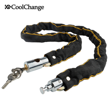 цены CoolChange Bicycle Lock Safe Metal Anti-Theft Outdoor Bike Chain Lock Security Reinforced Cycling Chain Lock Bicycle Accessories