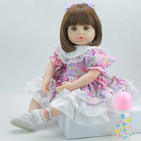 DollsEivvfie47cm/58cm princess soft vinyl reborn baby doll DIY silicone dolls birthday and Christmas gift lol doll