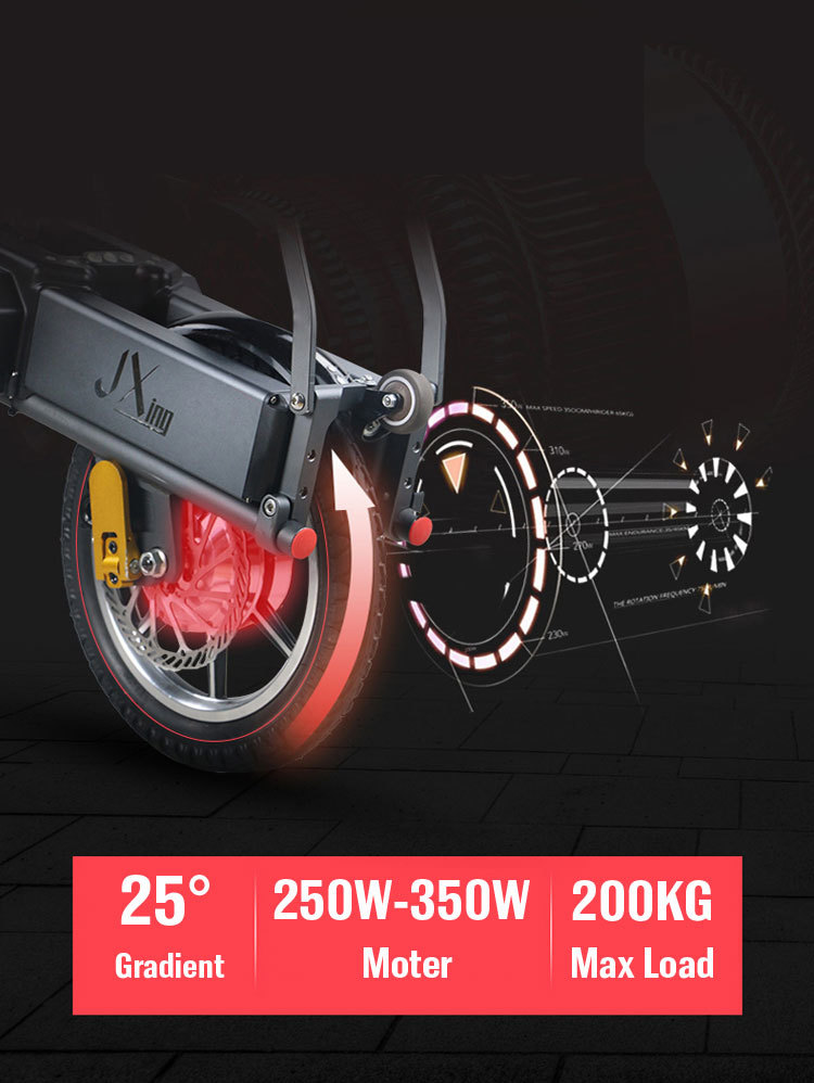 JX003 High speed electric bike 350w 48V 3 wheel foldable electric bicycle e scooter 4